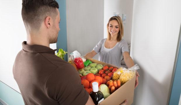 mad leveret til døren