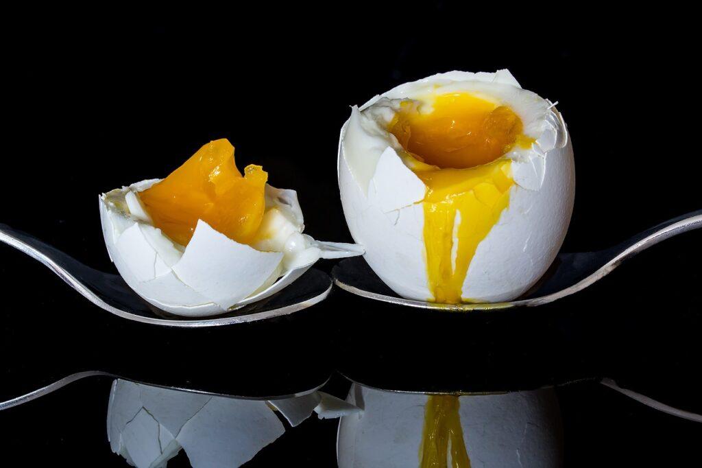 Blødkogt æg indeholder protein